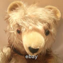 Vintage Hermann Mohair Teddy Bear Fully Jointed Long Hair 20 German Made