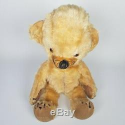 Vintage Merrythought 1950s Cheeky Teddy Bear Golden Mohair