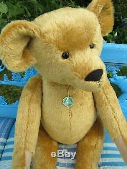 Vintage Mohair Teddy Bear Rare 24 Handsome Large Hermann Coburg Germany W Tags