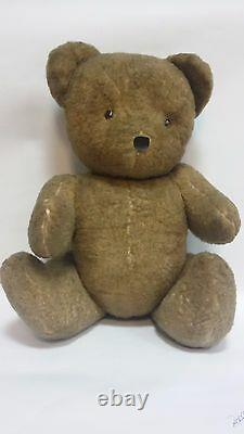 Vintage Old 45 CM Tall Straw Mohair Teddy Bear