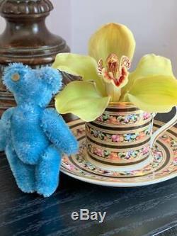 Vintage Steiff HTF 3.5 Blue Mohair Teddy Bear - Button in Ear- Free Shipping