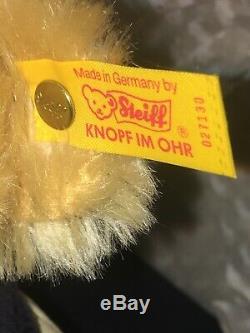 Vintage Steiff x Ralph Lauren Classic Mohair Teddy Bear 182/1000 Orig Box Bow