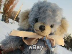 Vintage Teddy Bear Baby Blue Mohair Rare Cheeky Merrythought England Bells Ears