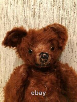 Vintage Teddy Bear Long Cinnamon Mohair 12 Knickerbocker