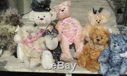 Vintage Teddy Bear Mohair Artist Ooak Cindy Kalnow Victorian Bearlooms 18 Noel