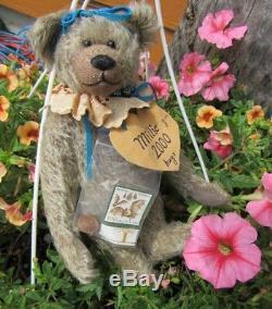 Vintage Teddy Bear Mohair German Artist Brigitta 10 W Collectors Coin Bat Stamp