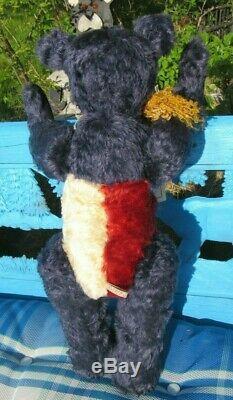 Vintage Teddy Bear Red Whit Blue Mohair Patriotic 20 Star Artist Judy Senk Ooak