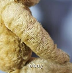 Vintage c1940s mohair Teddy bear, jointed, long snout