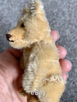 WOW- RARE VTG Miniature Steiff Mohair Teddy Baby Bear WithButton & Us Zone Tag NR