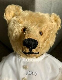 Wonderful Antique German Steiff 18 Mohair Teddy Bear Clean Old Long fF Button
