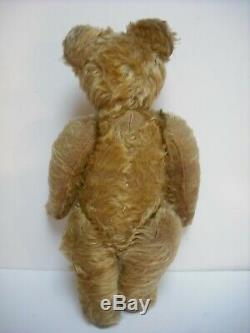 Wonderful Rare Early 14 Omega British Mohair Teddy Bear With Great Character